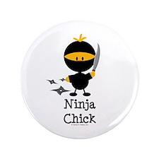 "Ninja Chick 3.5"" Button"