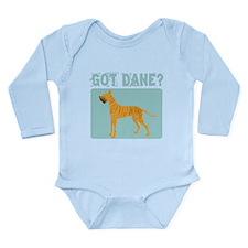 Brindle Great Dane Long Sleeve Infant Bodysuit
