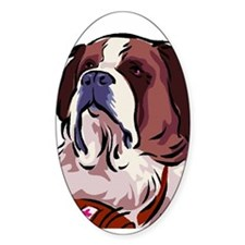 St. Bernard White Oval Decal
