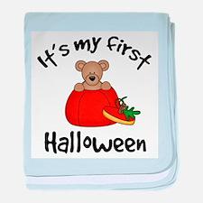 Baby's 1st Halloween baby blanket