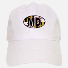 Maryland MD Oval (w/flag) Baseball Baseball Cap