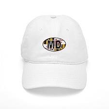 Maryland MD Oval (w/flag) Baseball Cap