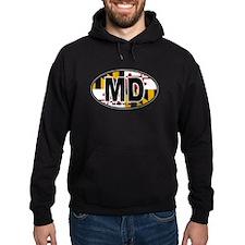 Maryland MD Oval (w/flag) Hoodie
