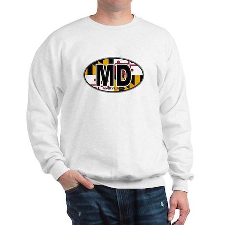 Maryland MD Oval (w/flag) Sweatshirt