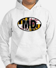 Maryland MD Oval (w/flag) Hoodie