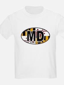 Maryland MD Oval (w/flag) T-Shirt