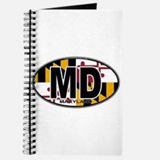 Maryland MD Oval (w/flag) Journal