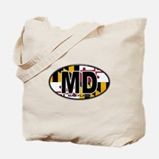 Maryland MD Oval (w/flag) Tote Bag