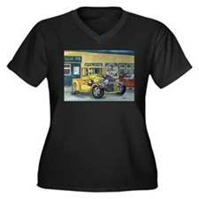 Unique Antique truck Women's Plus Size V-Neck Dark T-Shirt