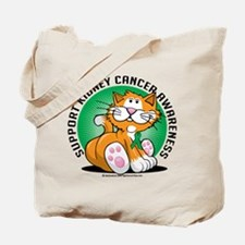 Kidney Cancer Cat Tote Bag