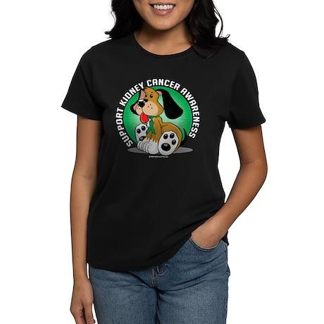 Kidney Cancer Dog Women's Dark T-Shirt