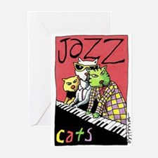 Jazz Cats Greeting Cards (Pk of 10)