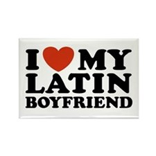 I Love My Latin Boyfriend Rectangle Magnet