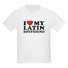 I Love My Latin Boyfriend Kids T-Shirt