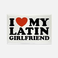 I Love My Latin Girlfriend Rectangle Magnet