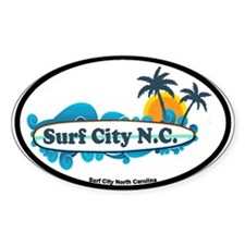 Surf City NC - Surf Design Decal