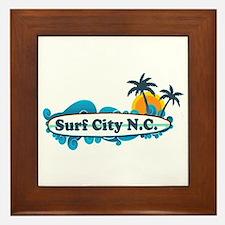 Surf City NC - Surf Design Framed Tile