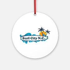 Surf City NC - Surf Design Ornament (Round)