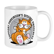 Parkinson's Disease Cat Mug