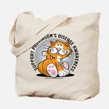 Parkinson's Disease Cat Tote Bag