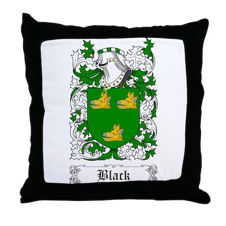 Black [Scottish] Throw Pillow