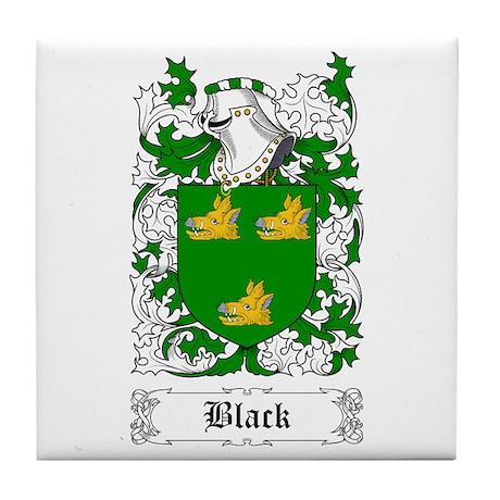 Black [Scottish] Tile Coaster