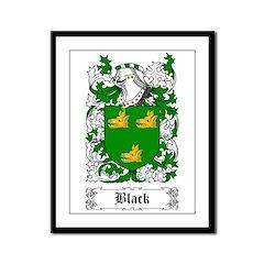 Black [Scottish] Framed Panel Print