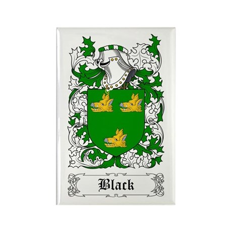 Black [Scottish] Rectangle Magnet (10 pack)