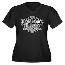 Parkinson's Tribal Women's Plus Size V-Neck Dark T