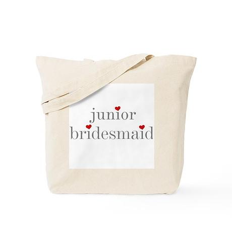 Junior Bridesmaid Grey Text Tote Bag