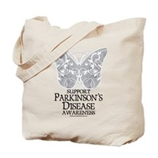 Parkinson's Disease Butterfly Tote Bag
