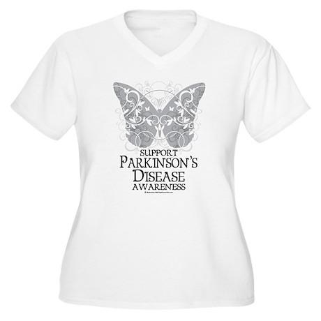 Parkinson's Disease Butterfly Women's Plus Size V-