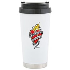 Parkinson's Tattoo Heart Travel Mug