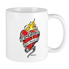 Parkinson's Tattoo Heart Mug