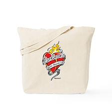 Parkinson's Tattoo Heart Tote Bag