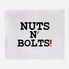NUTS N BOLTS! Throw Blanket