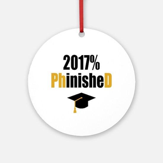 2017 PhD Round Ornament