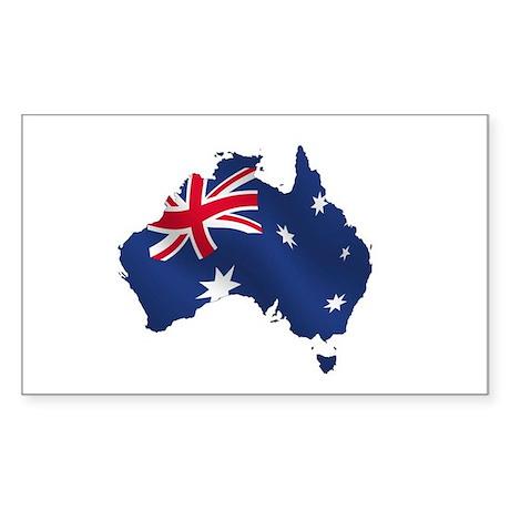 Australian Map Sticker (Rectangle)