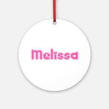 """Melissa"" Ornament (Round)"