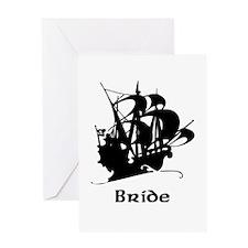 Pirate Ship Bride Greeting Card