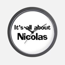 It's all about Nicolas Wall Clock
