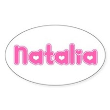 """Natalia"" Oval Decal"