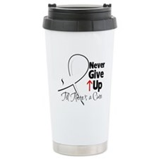 Never Give Up Lung Cancer Travel Mug