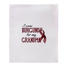 Wear Burgundy - Grandma Throw Blanket