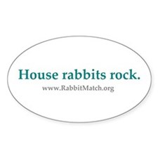 House rabbits rock. Decal