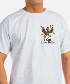 I Got Blue Balls Logo 14 T-Shirt Design Fron