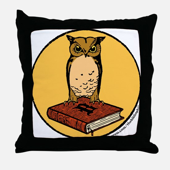 Bibliophile Seal Throw Pillow