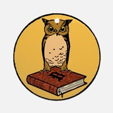 Bibliophile Seal Ornament (Round)