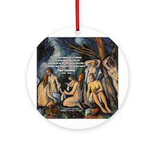 Cezanne Landscape Nude Ornament (Round)