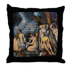 Cezanne Landscape Nude Throw Pillow